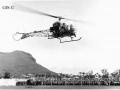 Hélicoptère en démonstration lors du ballet aérien (© GIS)