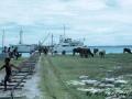 Accostage du Nordvaer sur les Chagos